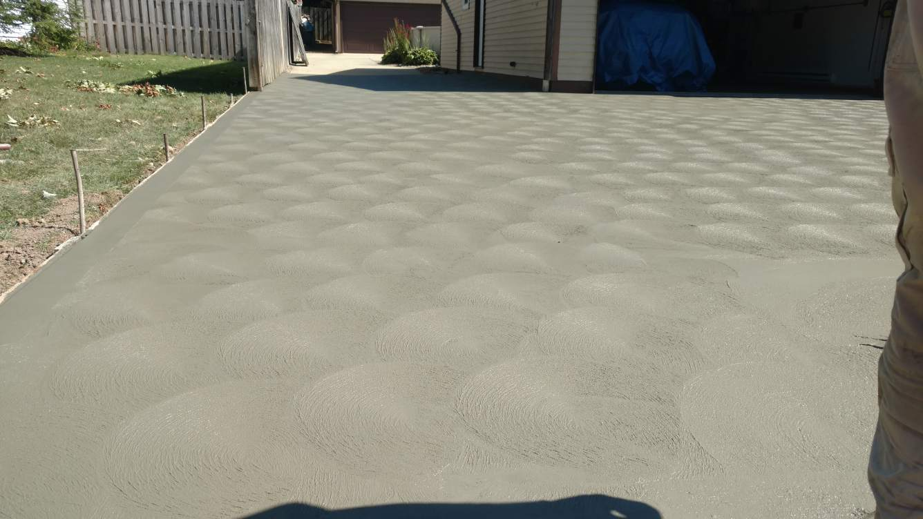 Professionally crafted concrete