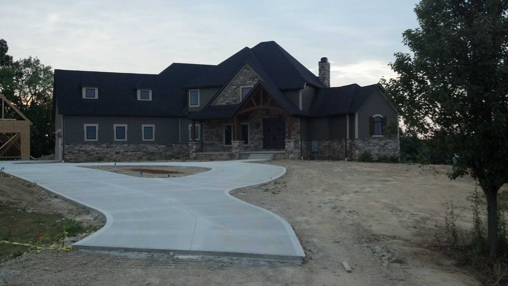 Professionally crafted concrete for residential properties