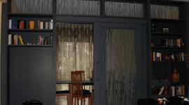 parete attrezzata vetro