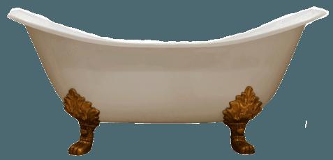 vasca da bagno con piedini