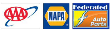 We work with AAA, NAPA and Federated Auto Parts