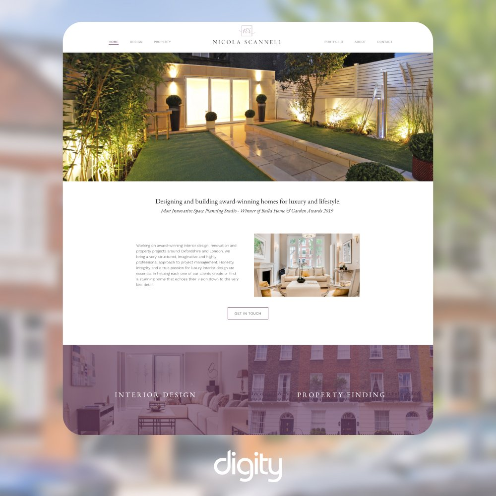 Nicola Scannell website design