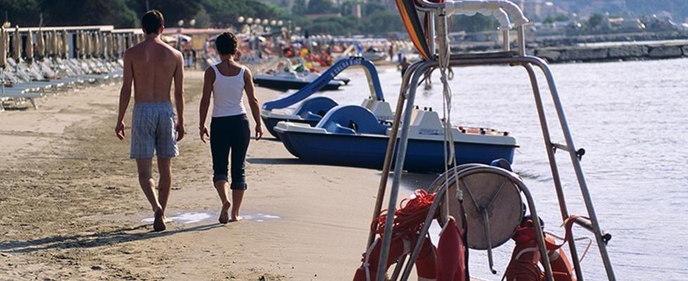 Spiaggia ttrezzata