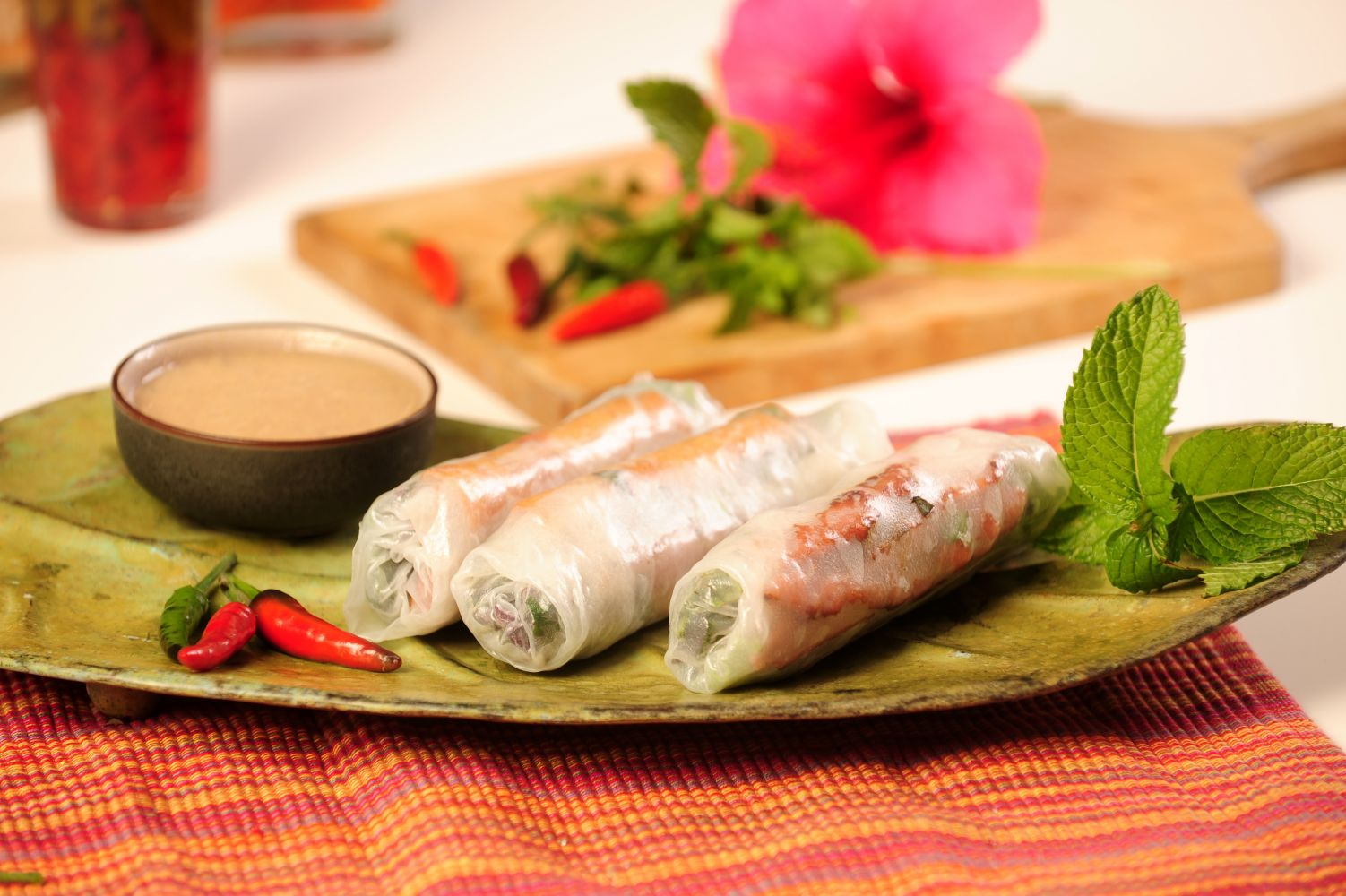 Thai cuisine spring rolls dish in Anchorage, AK