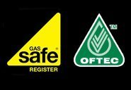 Gas Safe Registered and OFTEC logos