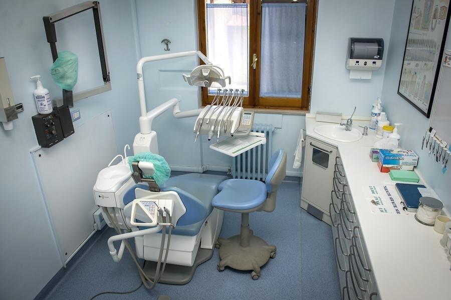 la sala nello studio dentistico