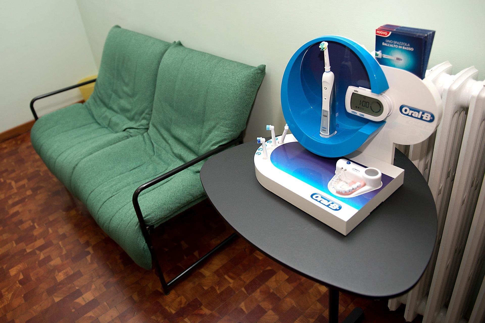 Sala d'attesa di uno studio dentistico