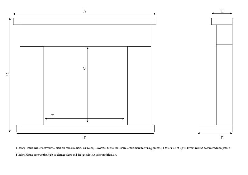 Measuring guide for fireplace in Doncaster