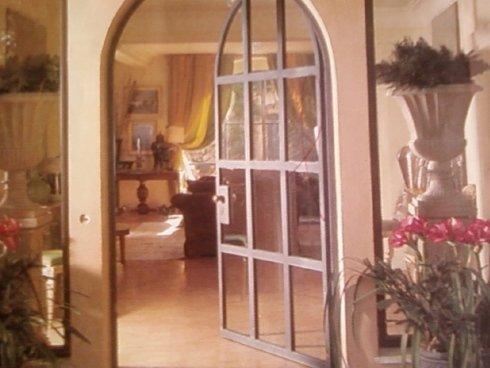 porta, interno, vetri, legno