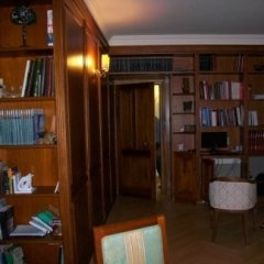 studio, pareti in legno