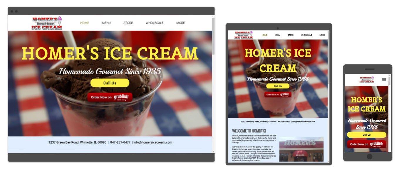 Homers Ice Cream Website