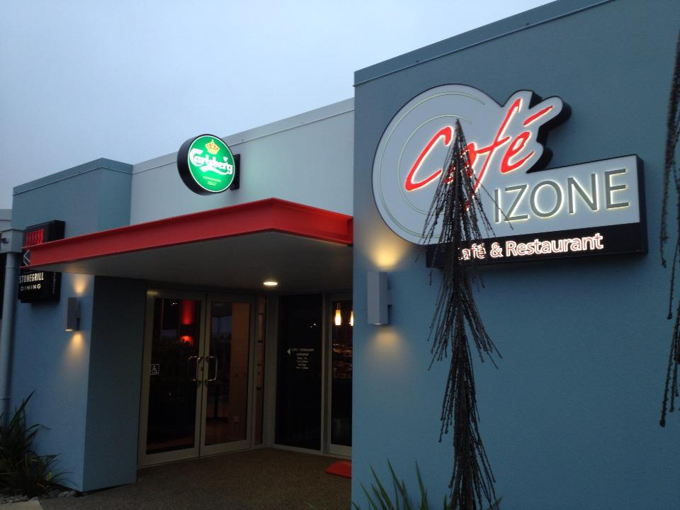 Exterior of Cafe Izone in Rolleston