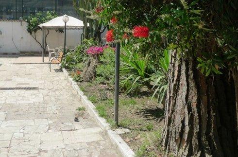 vialetto del giardino della casa per anziani