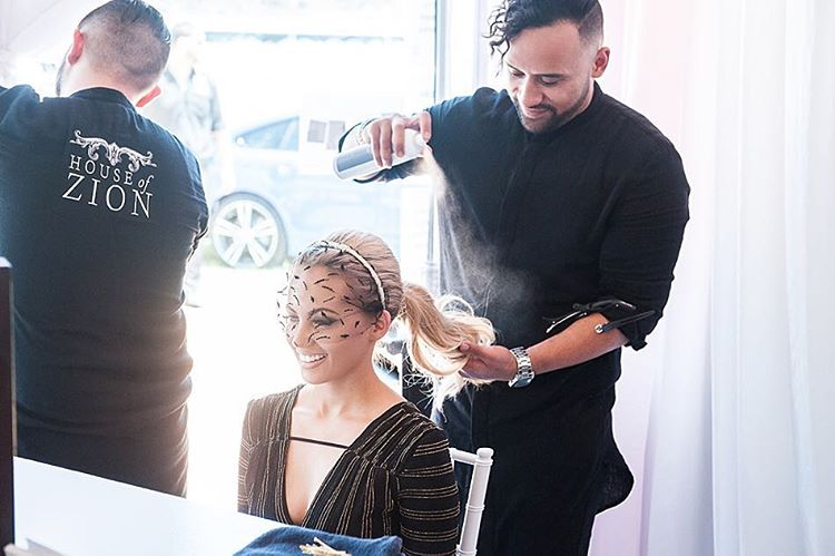celebrity getting hair done