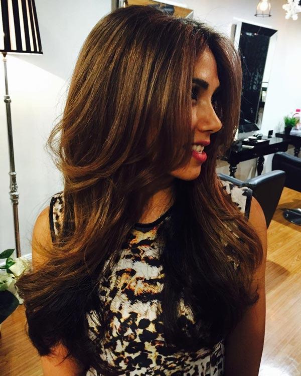 curled brown celebrity hair