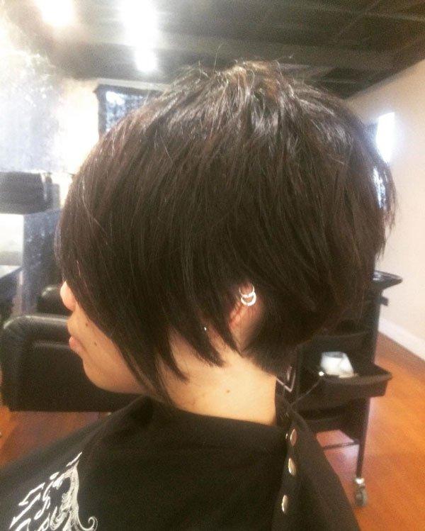 fresh look dark hair