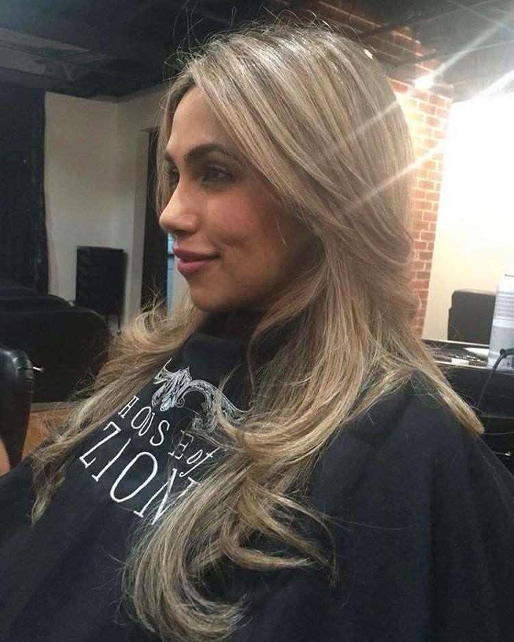 styled blonde hair