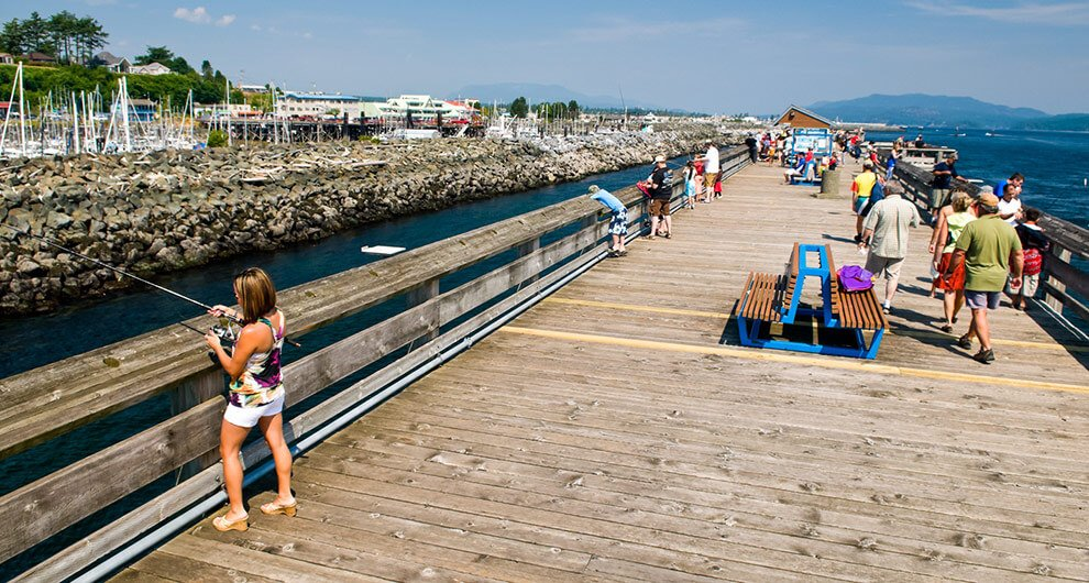 Discovery fishing pier campbell river bc canada for Campbell river fishing