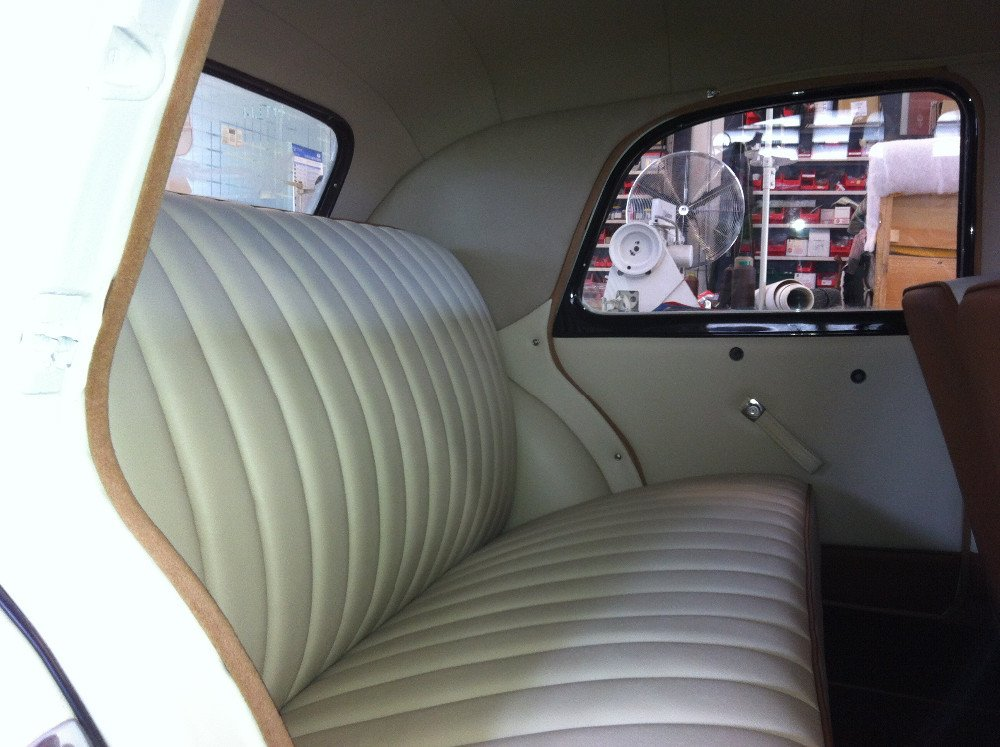 Motor upholstery work - after completion
