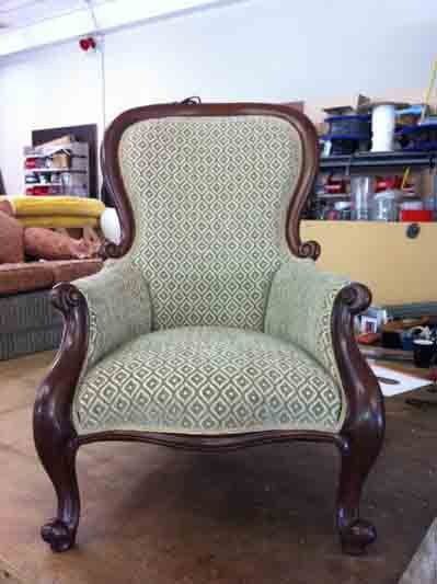 New upholstery installed on a chair