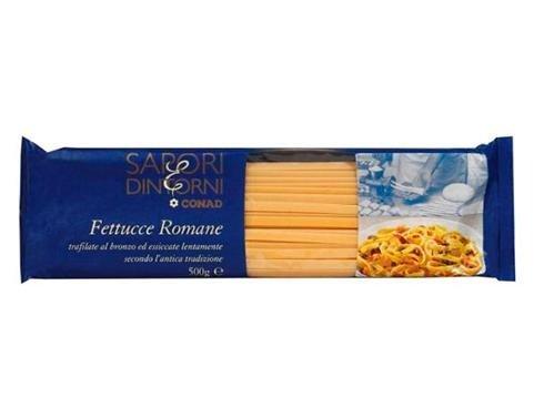confezione di fettuccine romane a marchio CONAD