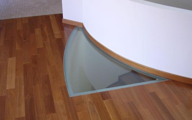 Chiusura a pavimento in cristallo di sicurezza