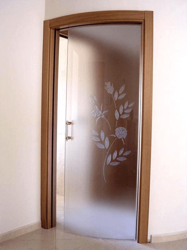 porta curva a scomparsa