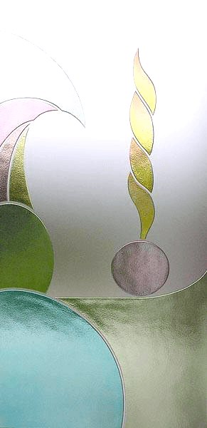 Decoro inciso e colorato