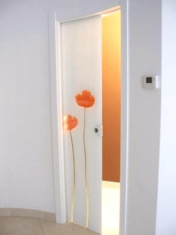 porta curva decorata