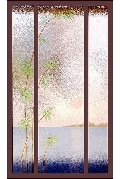 Bambù in laguna colorato