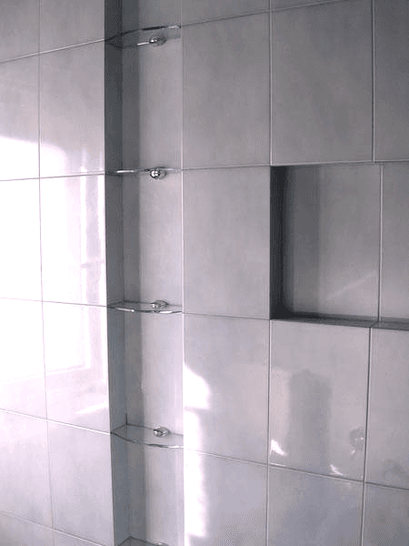 Mensole bagno incassate