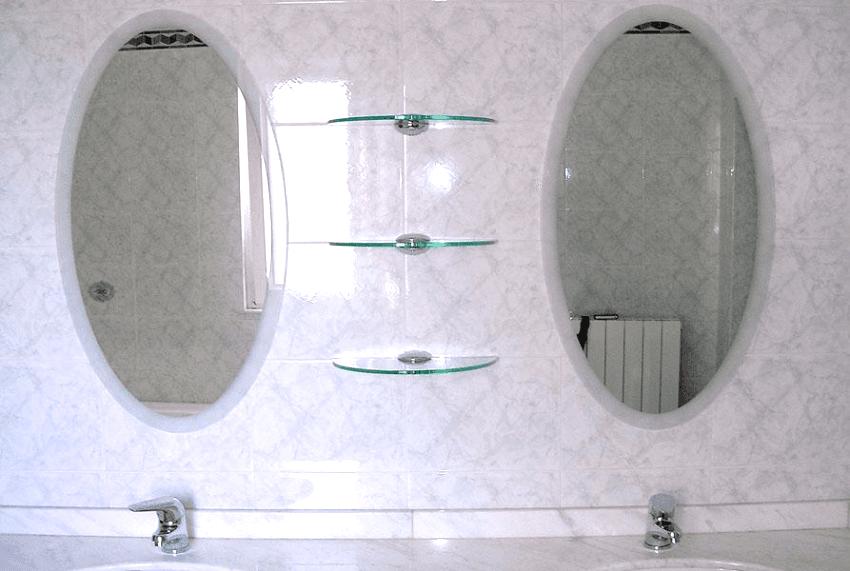 Ovali in specchio con cornice satinata