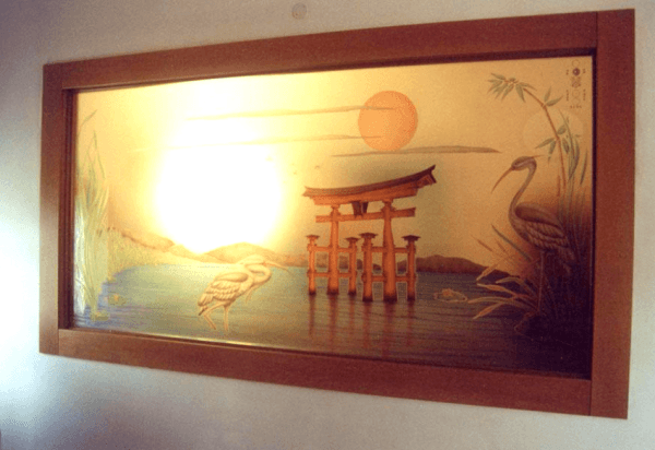 Laguna con simboli orientali