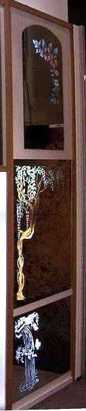 Specchi retrodecorati e illuminati