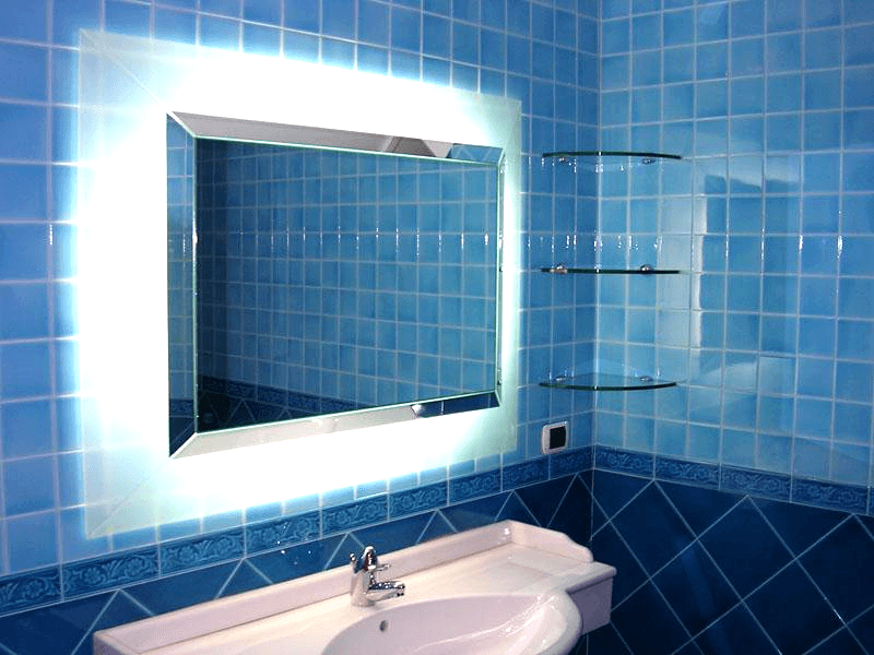Specchio sporgente retroilluminato
