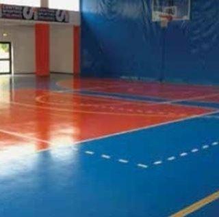 pavimento di un centro sportivo