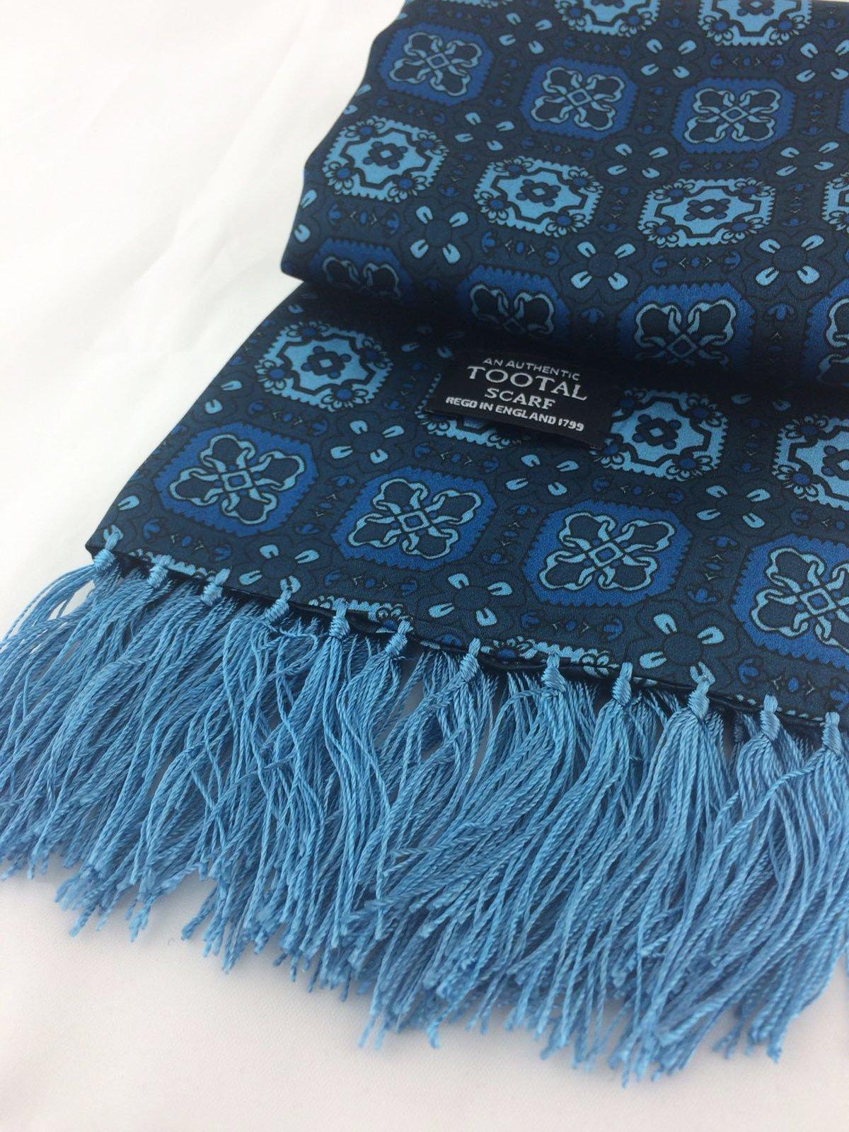 Teal silk scarf - Christmas Gift