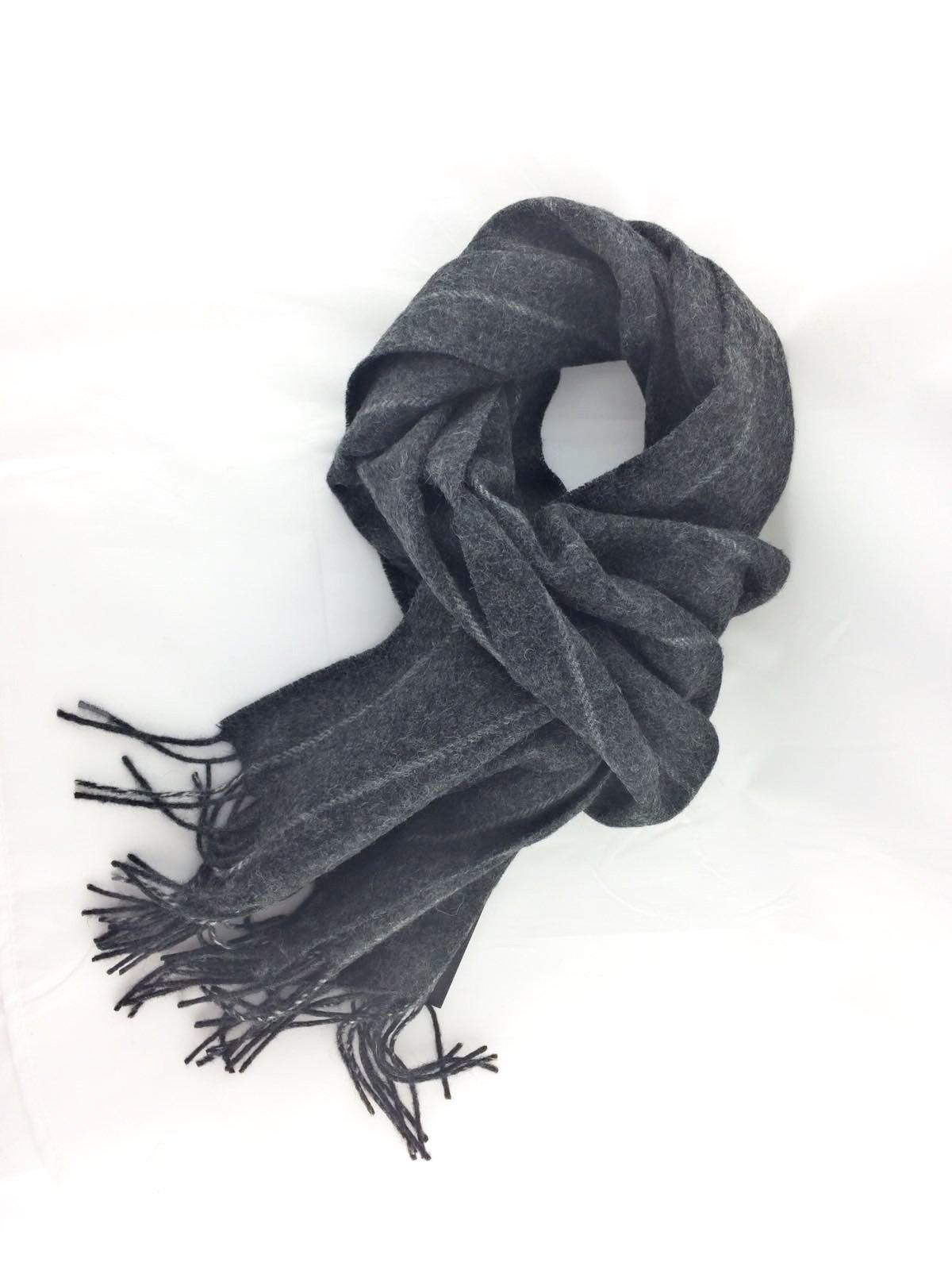 Charcoal stripe scarf