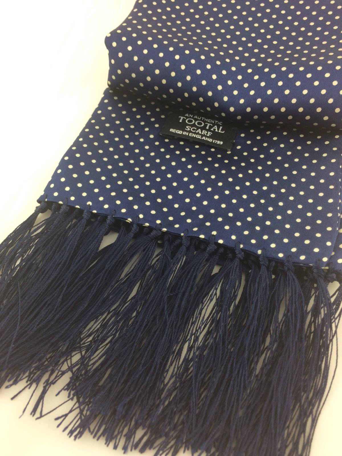 navy silk scarf - Christmas Gift