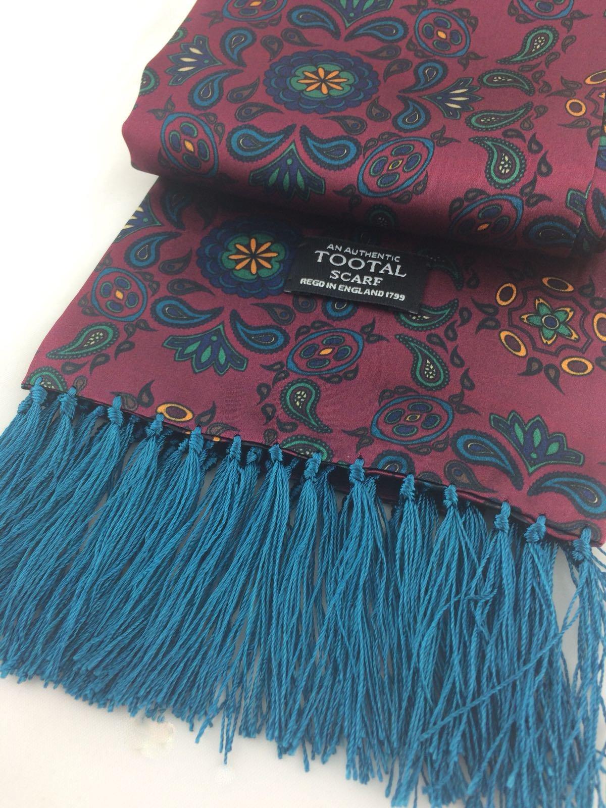 wine pattern silk scarf - Christmas Gift