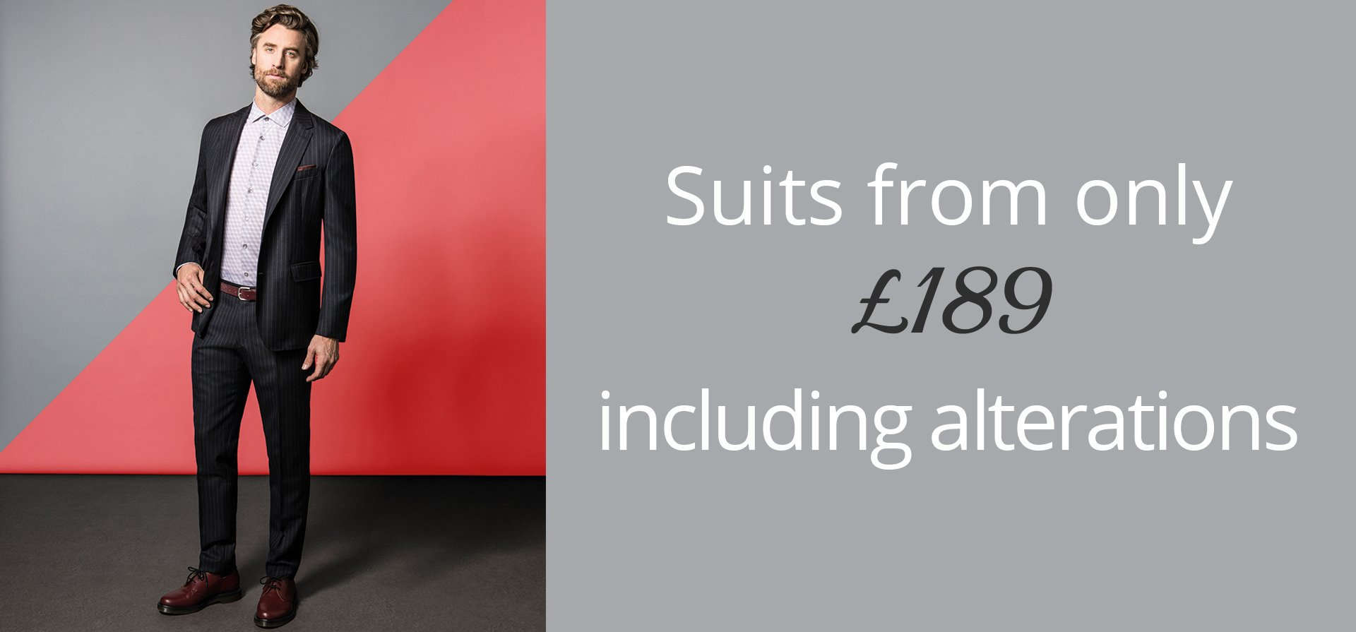Mens suits off the peg from £189 call us today or ask in store for more details 01926 400647