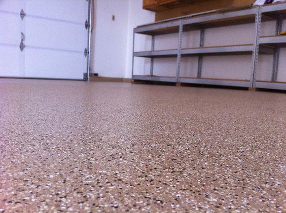 Flake flooring garage