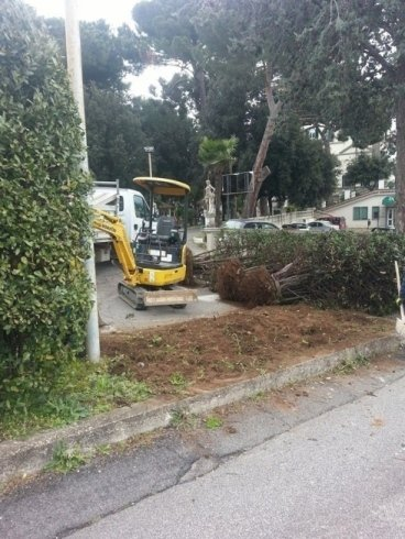 Scavi per lavori di giardinaggio
