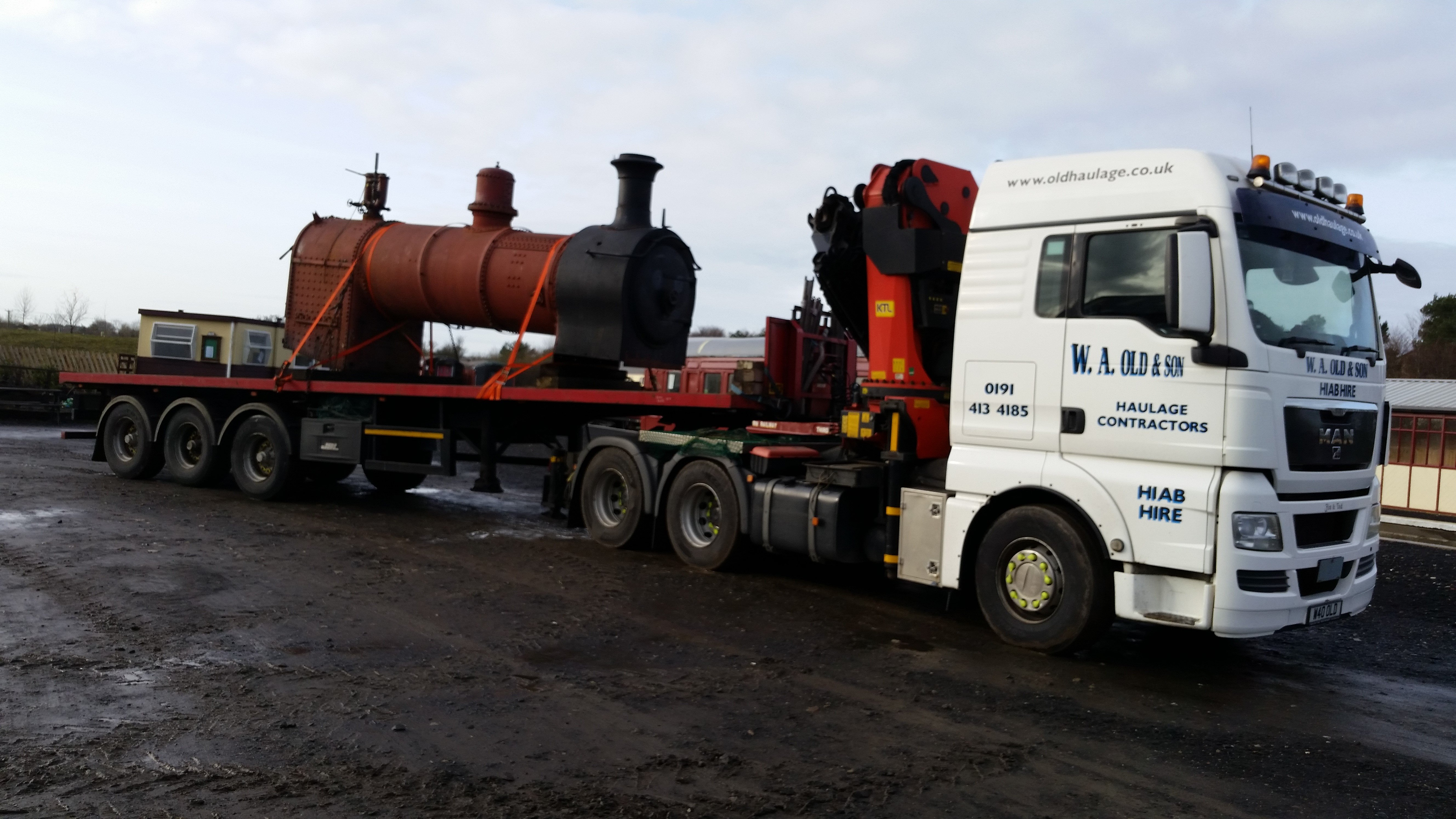 railway coach being transported