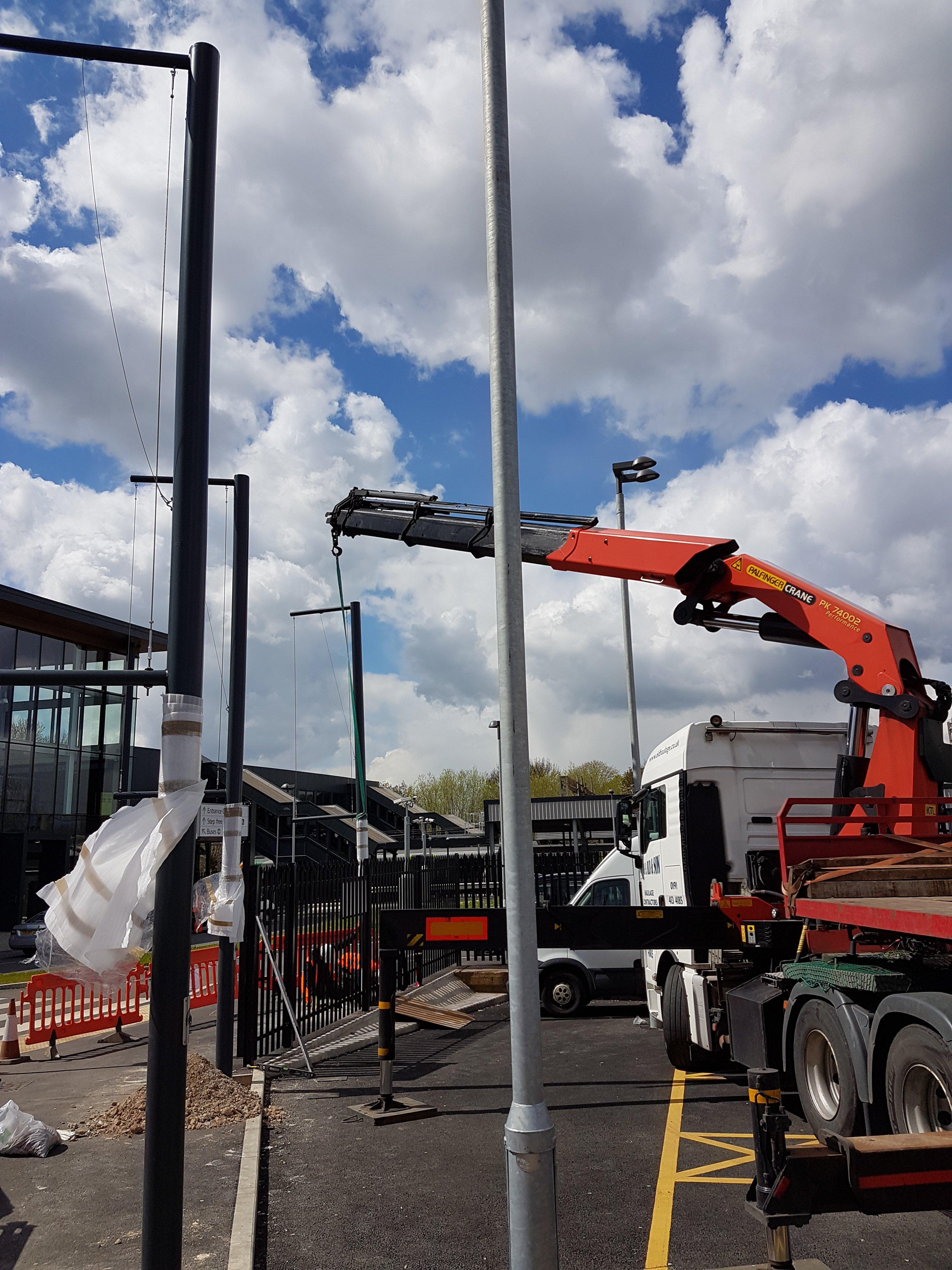 crane lifting items