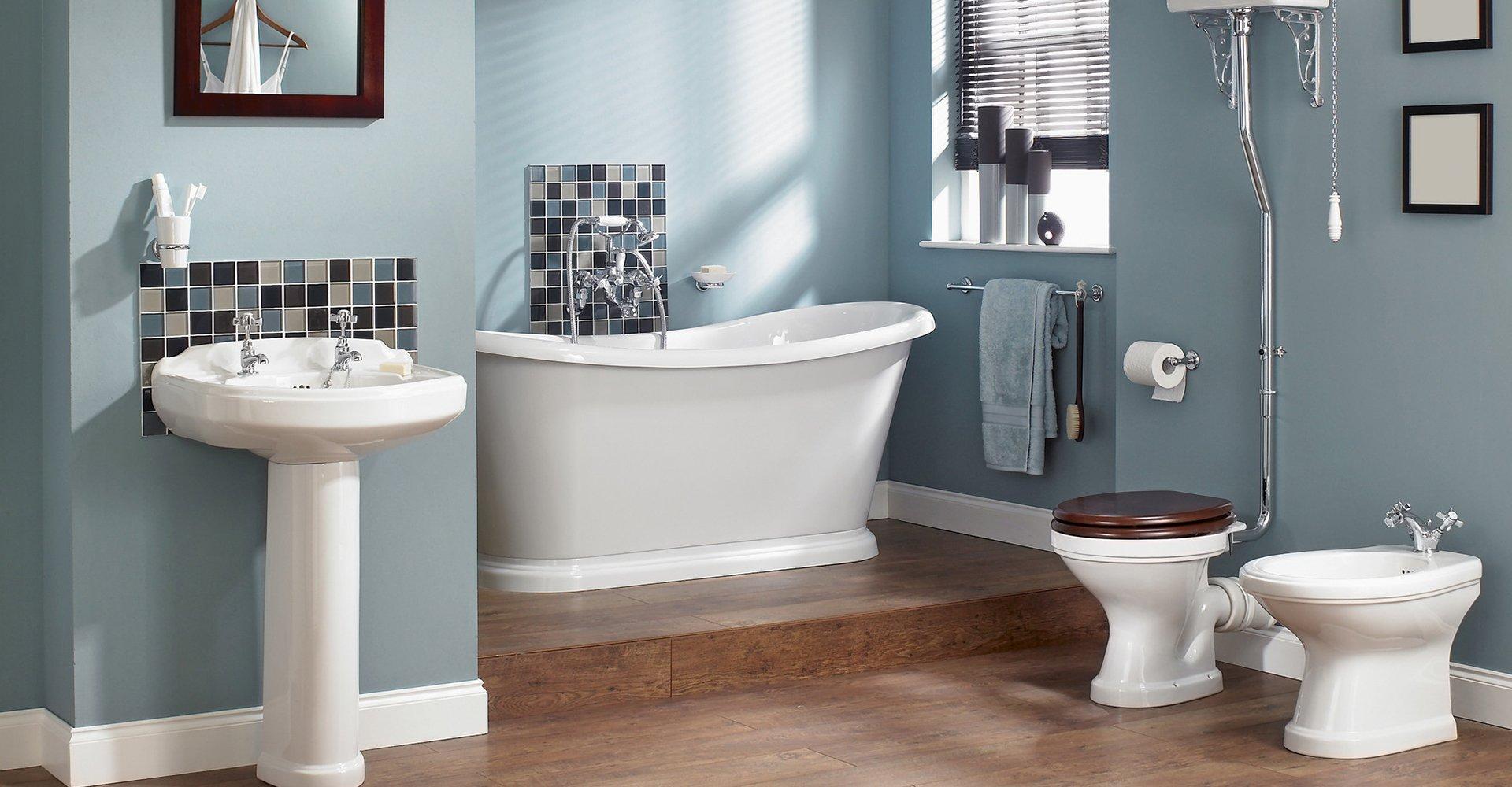 bathtub and WC