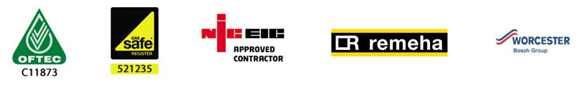 OFTEC WORCESTER NICEIC logos