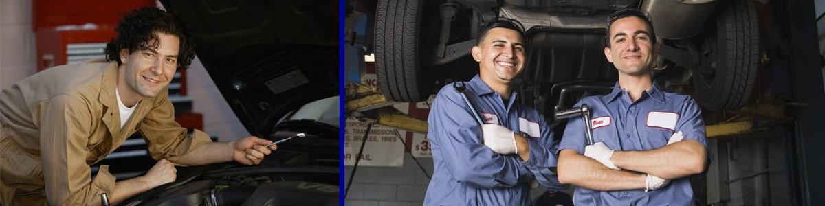 thompsons auto electrics mechanics working with smile
