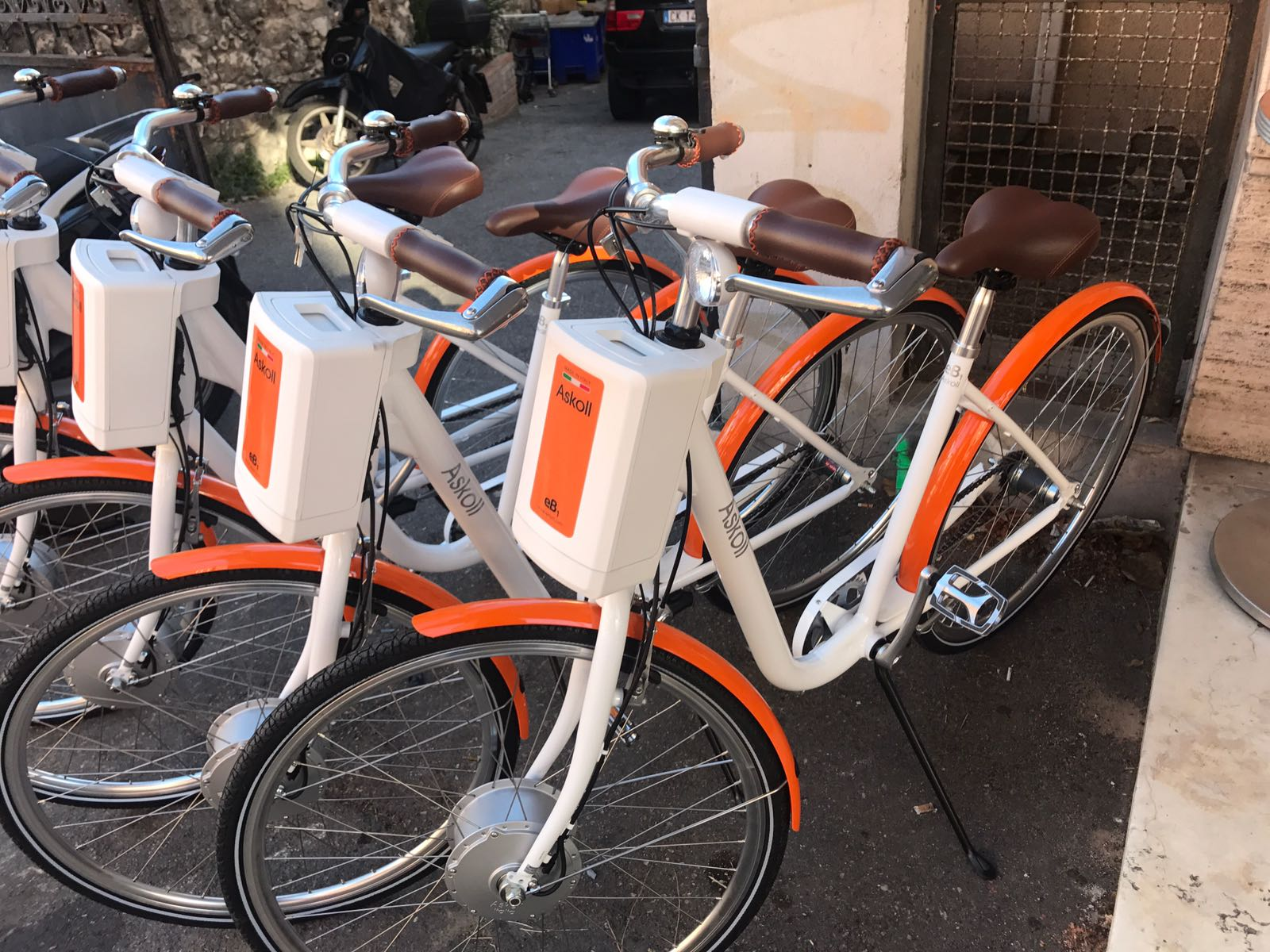 particolare biciclette