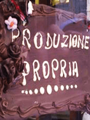 cartello di cioccolato